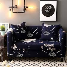 navy universal stretch sofa covers for living room 100 polyester