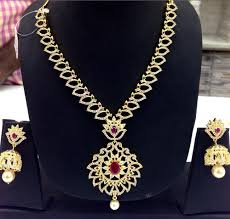 big pendant necklace images Designer cz chain with big pendant necklace at rs 3895 piece png