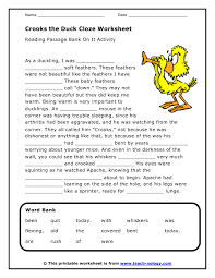 cloze worksheets free worksheets library download and print