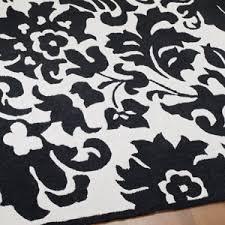 Black And White Bathroom Rugs Creative Black White Damask Rug Inspiration Ebay Rugs Design 2018