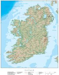 Terrain Map Ireland Terrain Map With Terrain And Contours U2013 Map Resources
