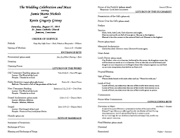 catholic wedding program templates free catholic wedding program template 6 wedding programs