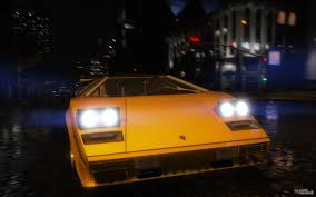 yellow lamborghini countach 1988 lamborghini countach qv 1 2 for gta 5