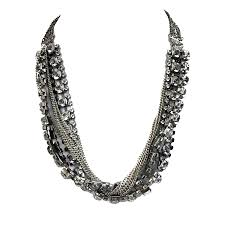 swarovski crystal black necklace images Celia crystal and chain statement necklace jeminee jewellery png