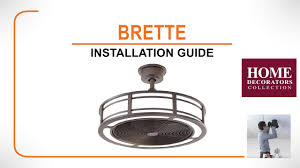 brette ceiling fan installation guide youtube