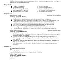 Example Medical Resume by Sumptuous Medical Resume Templates 1 24 Amazing Examples Cv