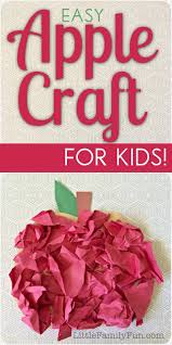 little family fun scrunchy apple craft for kids
