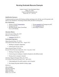 new graduate nurse resume sample medical resum