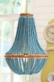 Beaded Wood Chandelier Colorful Wooden Beads Transform A Typical Pendant Lamp Into