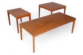 Teak Coffee Table Henning Kjaernulf Vejle Stølefabrik Teak Coffee Tables Modern