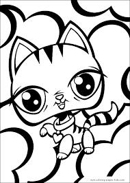 littlest pet shop color coloring pages kids cartoon