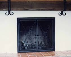 new ideas fireplace doors wrought iron with custom fireplace doors