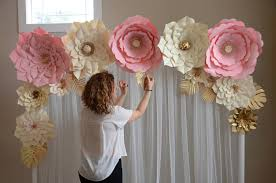 flower backdrop paper flower backdrop paper flower template diy paper