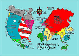 Cartoon World Map by The World According To Know Your Meme