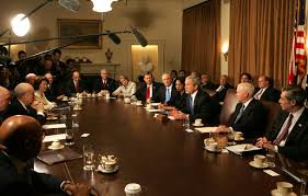 Cabinet President President Bush Meets With Cabinet Discusses Budget