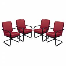 Dinette Chairs by Essential Garden Bisbee Set Of 4 Dining Chairs Red Limited