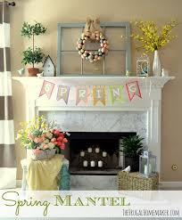 Easter Mantel Decorating Ideas by Seasonal Mantels Of 2013