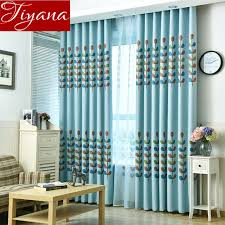 Teal Living Room Curtains Plants Curtains Printed Voile Curtains Modern Living Room Window