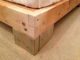 Bed Frame Joints Nail Less Glue Less Almost Less Finished Bed