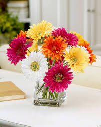 silk flower decorate happy with gerbera silk flower centerpiece at petals