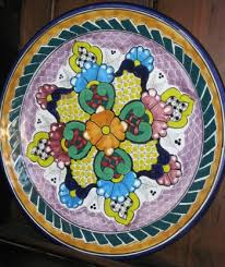 painted serving platters mexican pottery tx talavera pottery painted serving