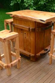 Rustic Bars Rustic Bar Leaner With Drinks Tub Insert Trade Me Bar Table