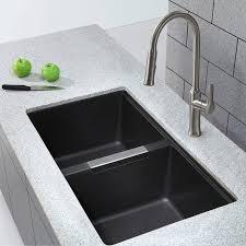 undermount kitchen sink kraus 32 5 x 18 88 double basin undermount kitchen sink reviews