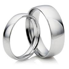 his and hers white gold wedding rings his hers 9ct white gold wedding rings 3mm 6mm court newburysonline