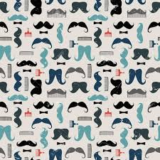mustache wrapping paper vector colorful pattern with mustaches mustache combs and bows