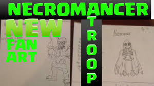 clash of clans fan art clash of clans new dark troop necromancer fan art idea youtube