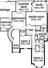 house plans with media room 4 bedroom 3 bath european house plan alp 09u3 allplans