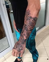 forearm roses tattoo