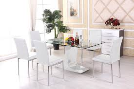 Designer Glass Dining Tables Marvelous Dining Room Sets White Glass Ining Table And Chairs