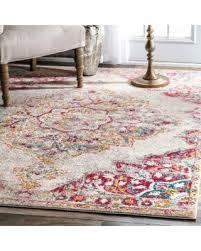 Pink 8x10 Rug Don U0027t Miss This Bargain Nuloom Transitional Medallion Centerpiece