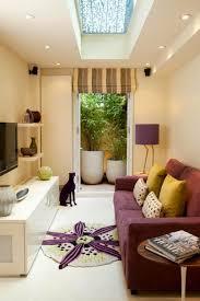 living room narrow idea with long sofa and space roomnarrow
