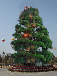 sjh100562 garden decoration plastic trees canadian pine tree white