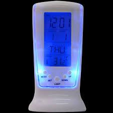 night light alarm clock modern unique phone digital lcd alarm clock calendar thermometer