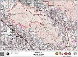 Map Los Angeles Ca by La Tuna Wildfire Burns Structures Closes 210 Freeway In Los