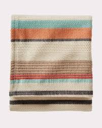 Chimayo Rugs Chimayo Stripe Cotton Blanket Pendleton