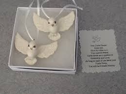 one set of two boxed turtle doves ornaments the bff gift wedding