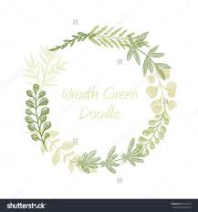 Floral Invitation Card Designs Greenery Floral Circle Wreath Vector Greeting Invitation Or