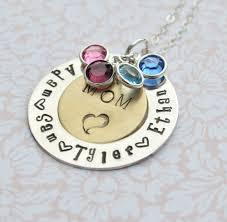 mothers day necklaces personalized personalized pendant with birthstones family necklace gift