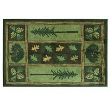 bacova accent rugs woodland escape carved nylon tufted accent rug by bacova 3 4 x 5