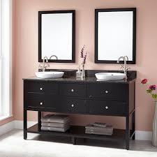 Robertson Bathroom Products Black Double Sink Vanity Signature Hardware