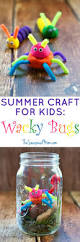 summer craft for kids wacky bugs