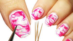 come fare la water marble nail art senza acqua youtube