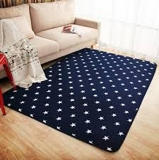 aliexpress com buy mdct new royal blue white stars fleece rug