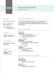 Lebenslauf Vorlage Usa Lebenslauf Muster 2017 Meinebewerbung Net