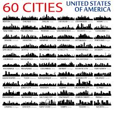 60 usa cities skyline wall decal wallstickerdesign design your 60 usa cities skyline wall decal