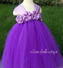 flower dress purple orchid tutu dress baby dress toddler